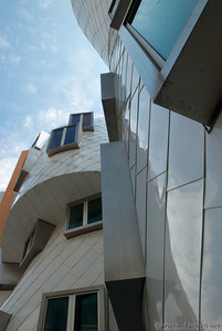 The M.I.T. Stata Center turns out the robots. Building by Frank Ghery.