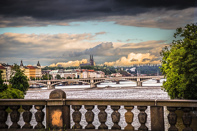 The Charles River in Prague.