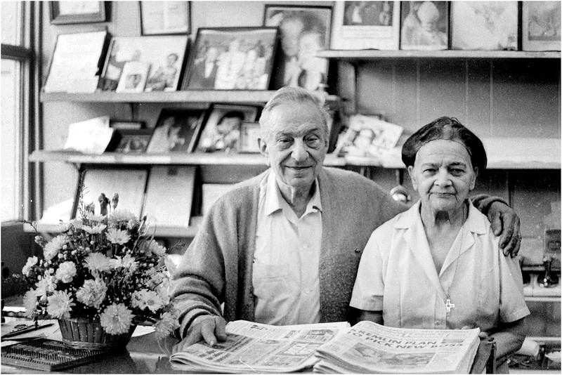 Manny and Angie Aronis. 1985.