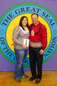 Congratulations to Landa McClure of Ada (originally from Talihina). She won the drawing for the iPad Mini. Attendees who pre-registered for the meeting on choctawnation.com were entered into the drawing.