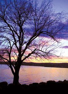 jhsunset - Wednesday's sunset on the north end of Canandaigua Lake has a multitude of color in the sky as seen from Kershaw Park.