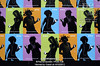 P5.2a-c / As a replacement for the stills suggested on the art grids<br /> <br /> Choice 7 of 10<br /> <br /> Apple iPod ad features silhouettes of dancing <br /> women, San Francisco, CA