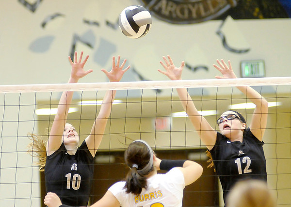Don Knight/The Herald Bulletin<br /> Madison-Grant defeated Muncie Burris 3-2 to win the regional on Tuesday.