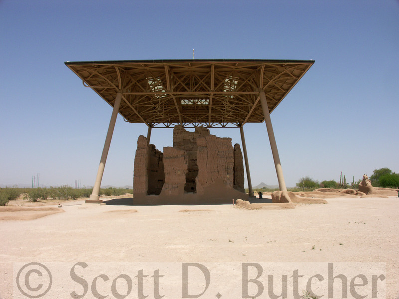"""Casa Grande National Monument - """"Great House"""" (pre-1350)"""