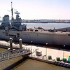Ark Royal prepares to leave the Princes Dock in Liverpool on 9th June 2008