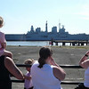 Ark Royal leaves the Princes Dock in Liverpool on 9th June 2008