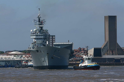 Ark Royal arrives in Liverpool