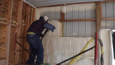 Video clip of closed cell insulation application