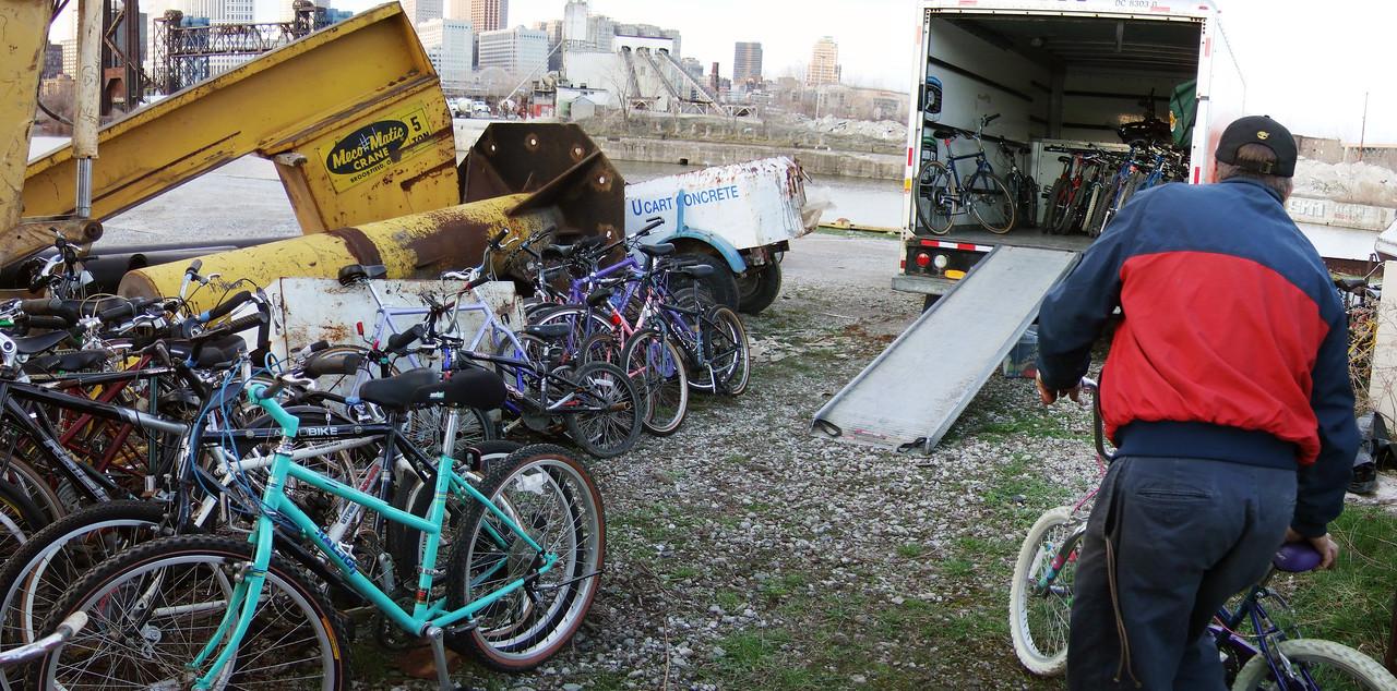 Jim moving bikes