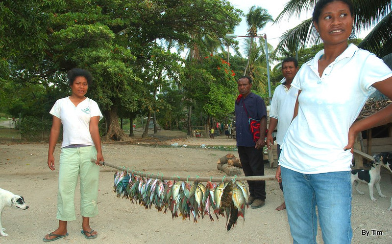 The fish are sold at the roadside