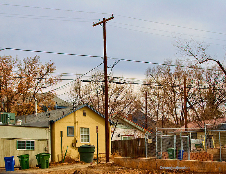 I thought this was a typical view of an alley in Prescott. I liked the colors.