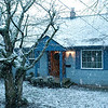 Snow falling at home