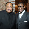 Martin Luther King III and Ryan Glover attends the Frank Ski's Celebrity Wine Tasting and Auction