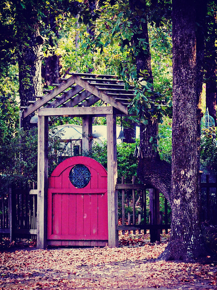 Red Garden Door