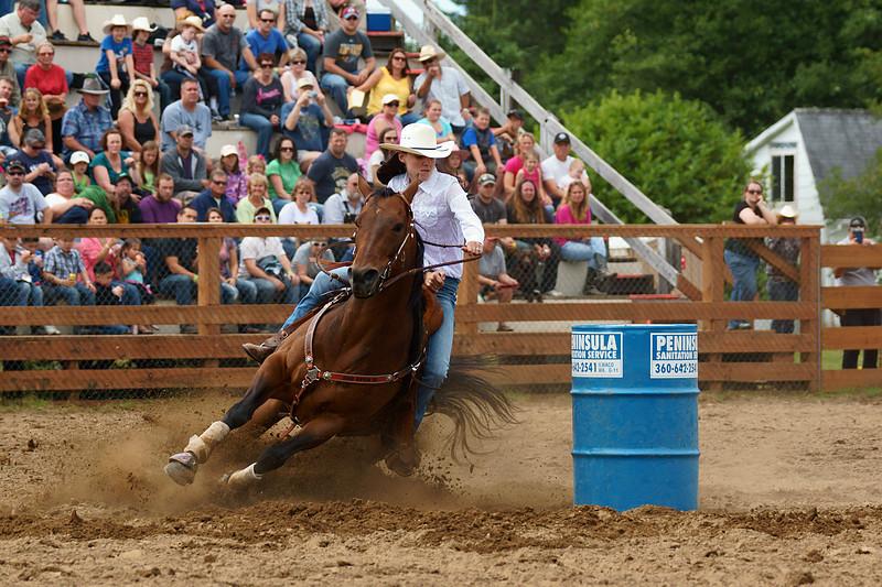 Barrel Racing ...67th Annual Longbeach, Wa. Rodeo