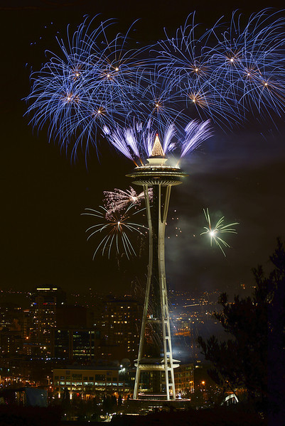 New Years at the Needle! Seattle, 2012!