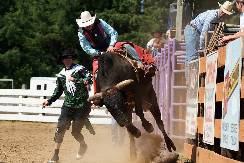 Bull riding....67th Annual Longbeach, Wa. Rodeo