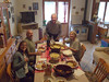 With Davide's parents and girlfriend in Brosso, Italy after a real home-cooked Italian dinner, cooked on a woodstove.