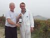 Bill and Giorgio Pelissero in Alba, Italy