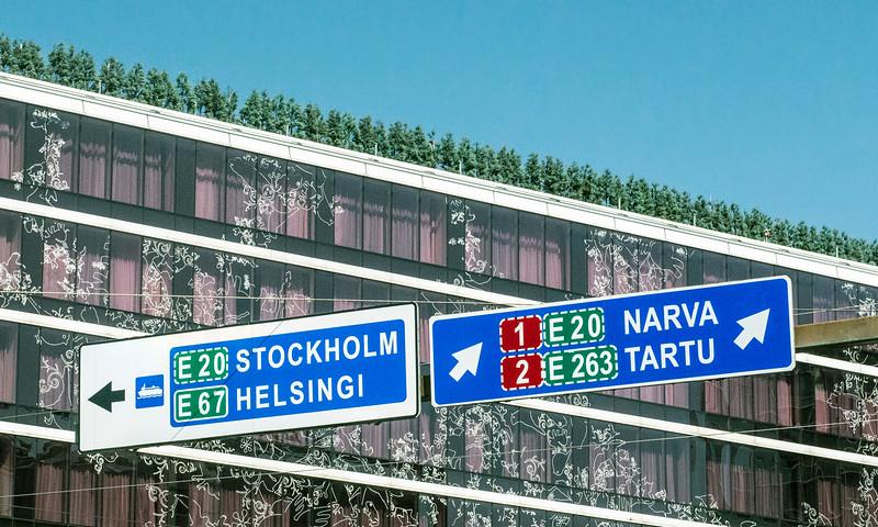 Road signs, Tallinn, Estonia.