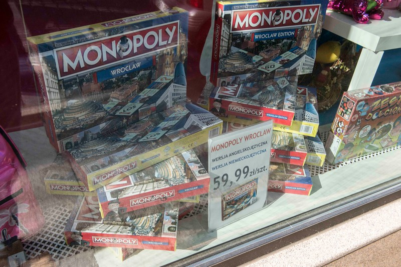 Monopoly game for Wroclaw, Poland.
