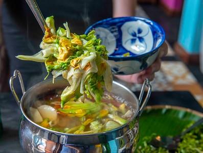 Flower Blossom soup, Nam Pla Thai restaurant, Saigon, Vietnam.