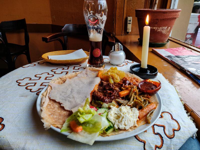 Ethiopian Meal, Berlin, Germany.