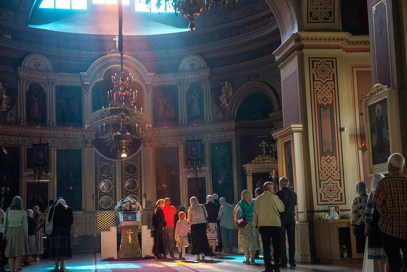 Spaso-Preobrazhensky Cathedral, Vyborg, Russia, June, 2019.