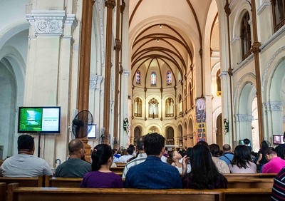 Easter, 2019 mass, Notre Dame Cathedral, Ho Chi Minh City, Vietnam.