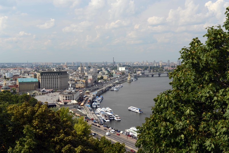 Dnieper River at Kyiv, Ukraine.