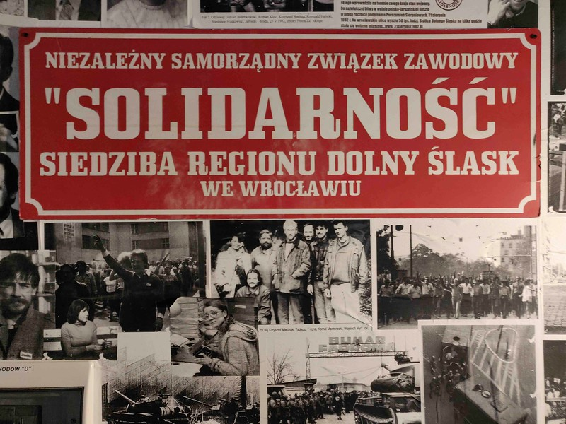 Solidarity Museum at Restaurant Konspira, Wrocław, Poland.