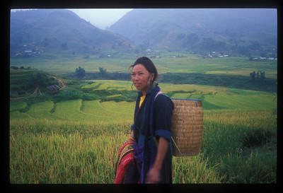 Hill tribe woman outside Sa Pa, Vietnam.
