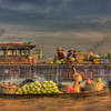 HDR: Floating market at Can Tho, Vietnam.
