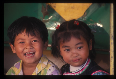 Here's a couple of kids from one of the most photogenic parts of Vietnam, the mountains in the far north at the Chinese border. Your camera can't go wrong in Sa Pa, Vietnam.