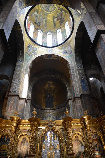 St. Sophia's Church, Kyiv, Ukraine. Parts of it date from 11th century, most from 18th.