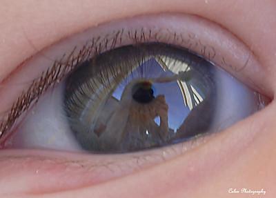 it's in the eye