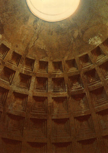 Pantheon, Rome. Oculus. The world's largest unreinforced concrete dome. Minox Spy Camera.