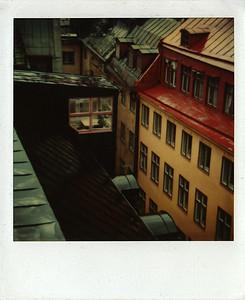 SX-70. Stockholm, Sweden, the Old Town.