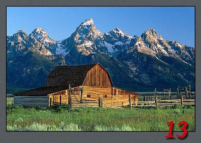 Barn with Grand Tetons