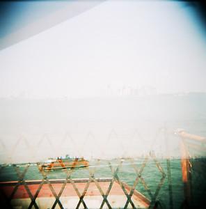 Staten Island Ferry & NYC Skyline (Holga, 2011)