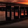 Tay Rail Bridge Sunset from Dundee