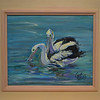 Pelicans by Gaye Shields, a prize at the Wooli Art Show