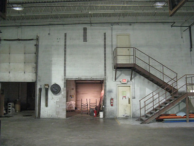 Retail space, back wall (as you enter)
