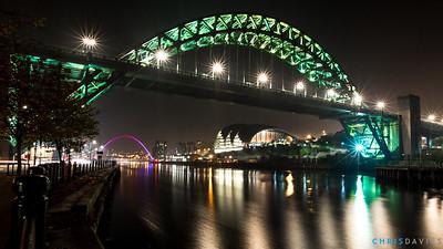 The Tyne and Millenium Bridges, Newcastle