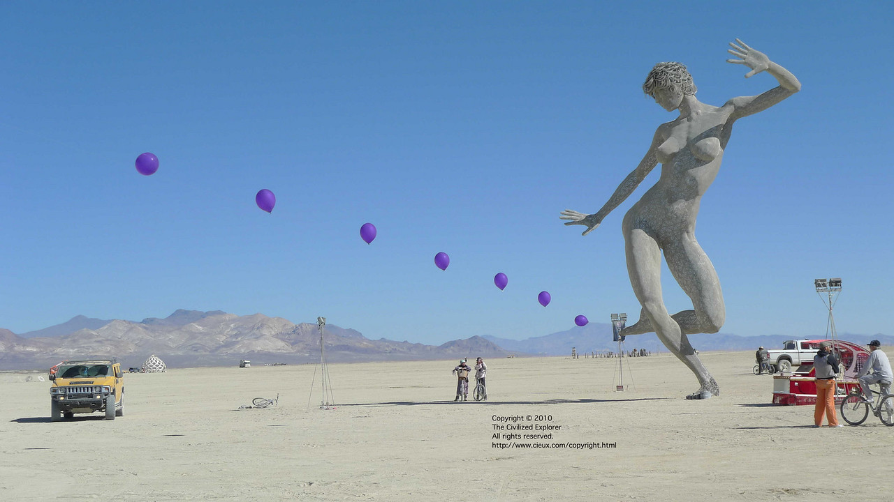 """Bliss Dance, by Marco Cochrane<br /> <a href=""""http://blissdance.org/"""">http://blissdance.org/</a><br /> and Balloon Chain, by Robert Bose"""