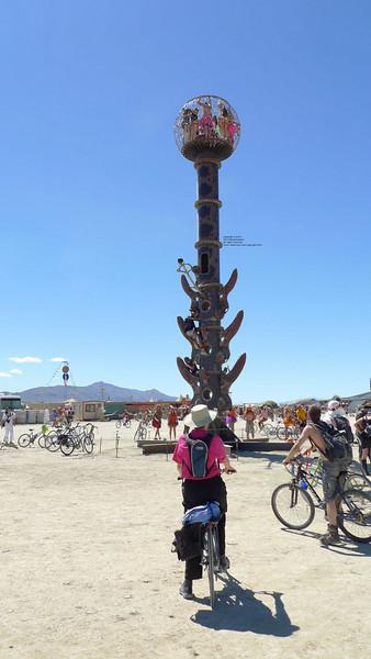 Minaret, by Bryan Tedrick, Glen Ellen, CA, was on the gate way to Center Camp.