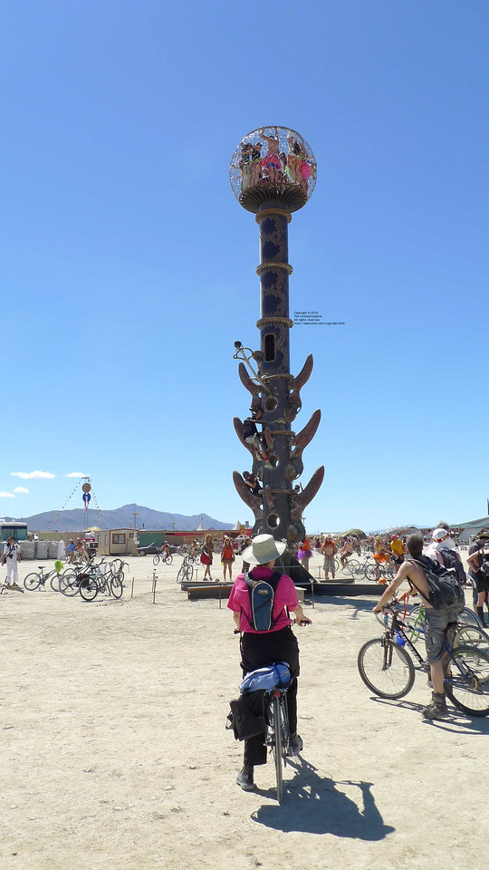 Minaret, by Bryan Tedrick, Glen Ellen, CA, was on the gate way to Center Camp.