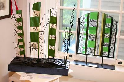 "Art In Bloom  Johanna Longo  Plymouth Garden Club Art Work  ""Vertigo""  Artist  Gregory Allen"