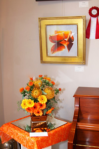 "Art In Bloom  Jeanne Burnell  Evening Garden Club of Plymouth Art Work  ""Litekist"" Artist  Patricia Isaac"