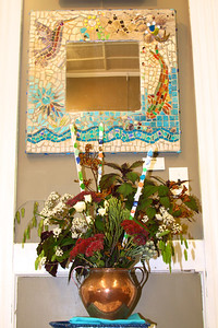 "Art In Bloom Gretchen Moran  Plymouth Garden Club Art Work  ""By the Sea"" Artist  Sarah Mayo"